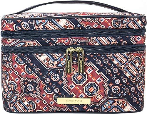 Trina Tartan + Twine Double Zip Train Case Desert Damsel Cosmetic Bag (Train Plaid Case)