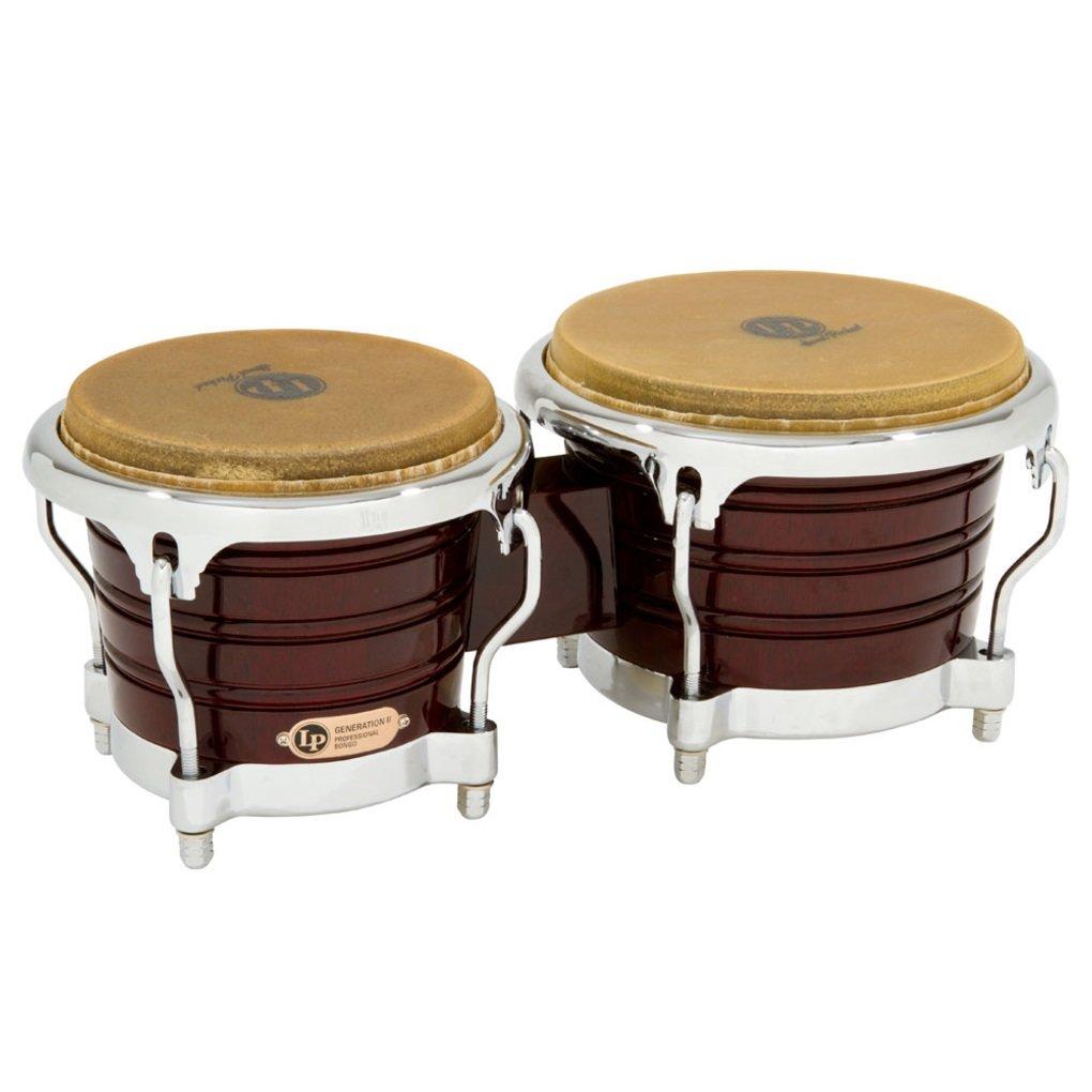 Latin Percussion LP201AX-2DW Bongo Drum Wine Red / Chrome