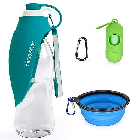 Amazon.com: Yicostar - Botella de agua para perros, botella ...