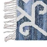 REAL RUGS Hand Woven Wool-Denim Area Rag-Rug