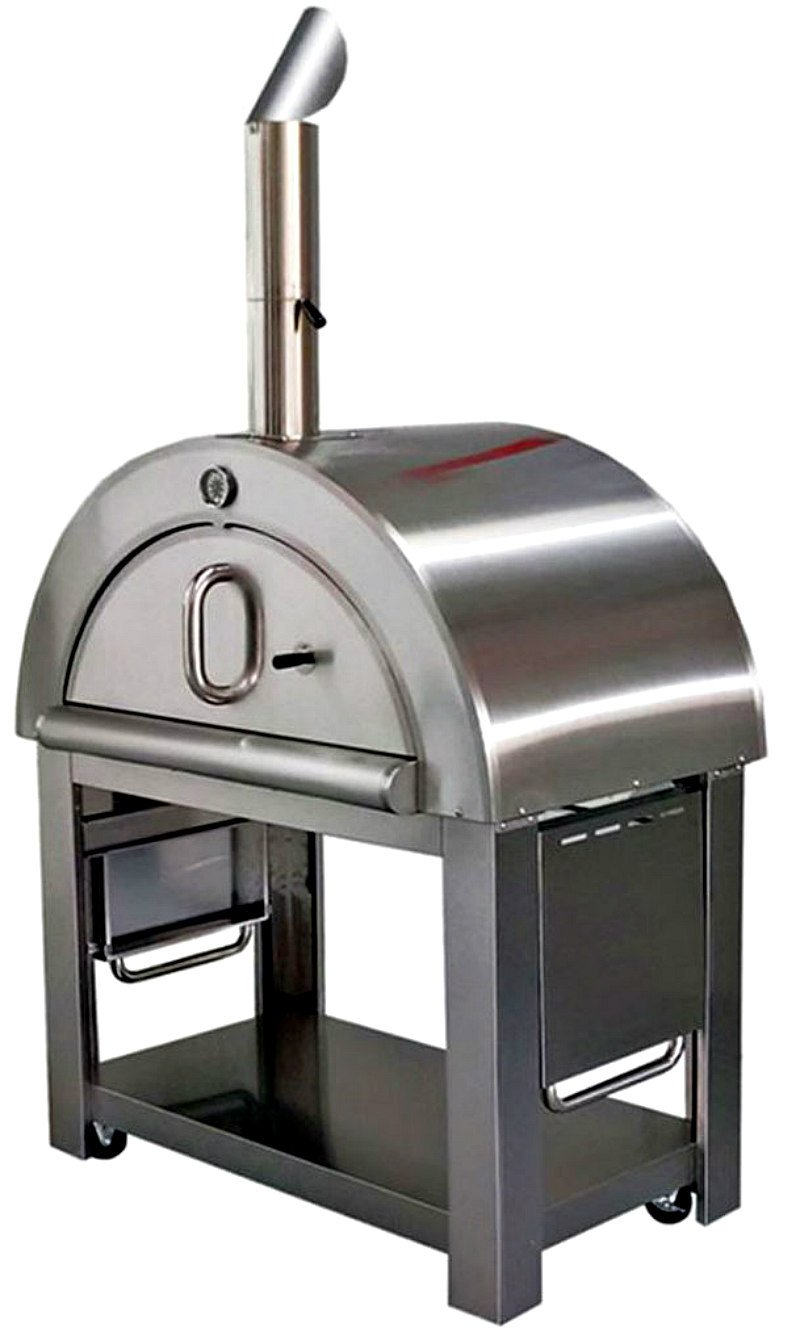 Western Pacific XL Pizza Oven Outdoor Artisan Wood-Fired Stone Bake 44 Inch W Commercial Stainless Steel - Cooking Accessories - Cover - Model SYM02P