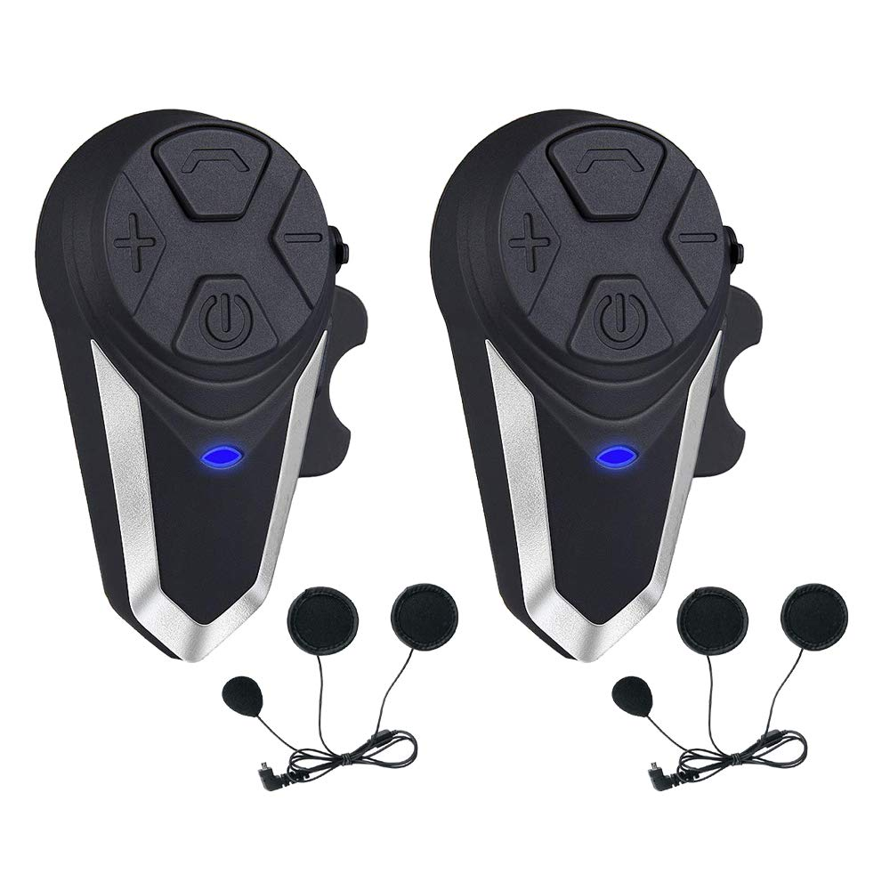 Motorcycle Helmet Intercom, Fodsports BT-S3 1000m Motorcycle Bluetooth Headset Intercom Wireless Interphone to 2-3 Riders (Waterproof/Handsfree/Stereo Music/FM Radio/GPS/MP3/2 Pack Soft Microphone) by Fodsports