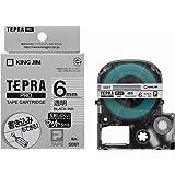 キングジム テープカートリッジ テプラPRO SB6T 6mm マット透明