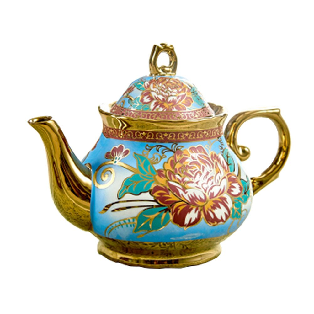 Phoenix Wonder Luxurious Beautiful Tea Pot European Style Ceramic Coffee Pot Ornament