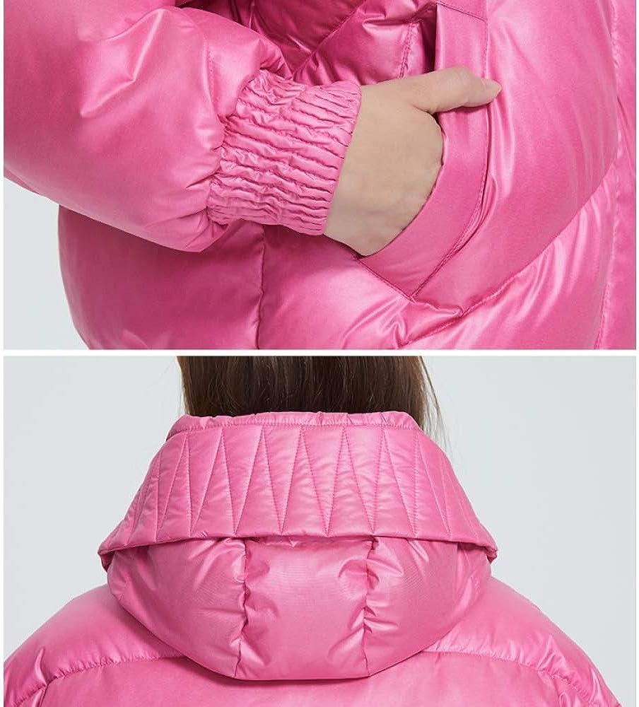 2019 Nouveau Design Manteau d'hiver Femmes Veste isolée Coupe Taille Longueur avec Poches Casual Parka Stan col Casual Parka col Montant à Capuche Argent
