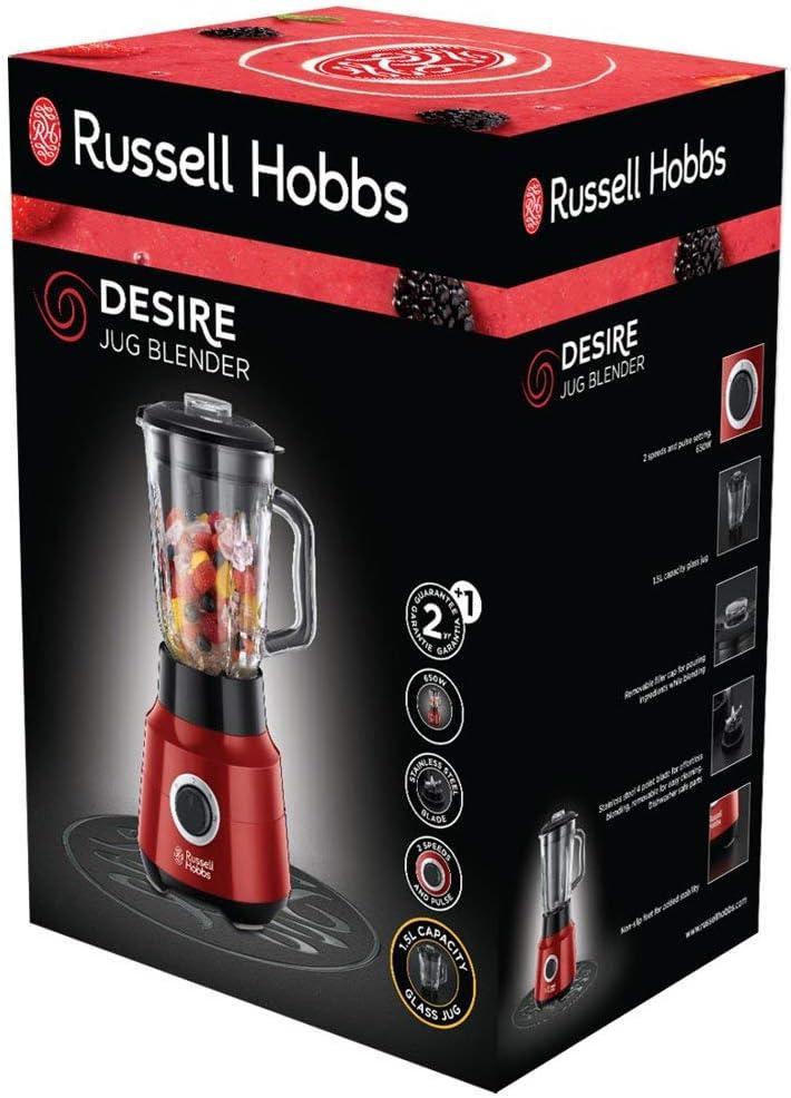 Russell Hobbs Desire – Juego de Batidora de Vaso (650 W, Jarra de ...