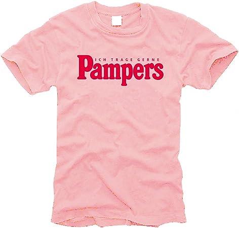 Ich trage gerne Pampers (rosa) - T-Shirt - Gr. L: Amazon