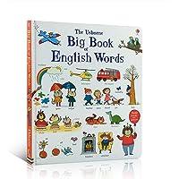 英文原版绘本 the Usborne Big Book of English Words 纸板书 大开本儿童英语单词大书彩色图解词汇书 1000个单词Usborne出版