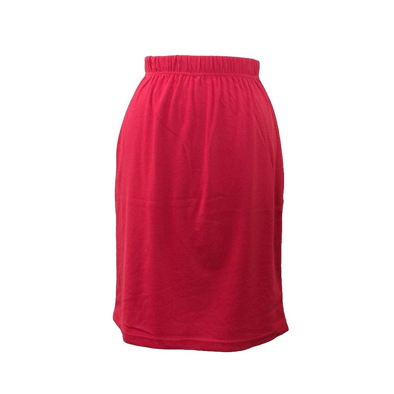 Women's Fashion Classics Elastic Waist Straight Skirt Knee Length