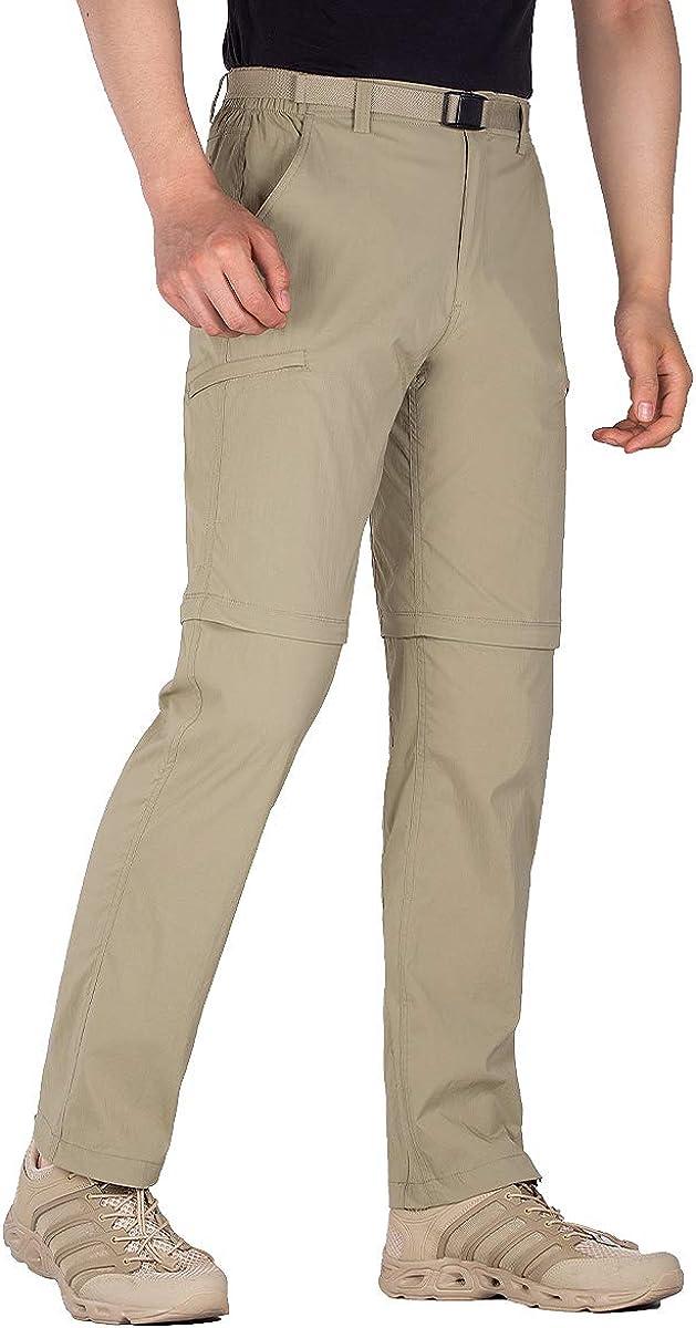 FREE SOLDIER Men's Outdoor Cargo Hiking Pants Lightweight Waterproof Quick Dry Tactical Pants Nylon Spandex