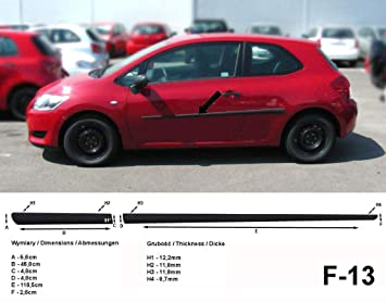 Spangenberg 370001309 - Listones de protección Lateral para Toyota Auris I E150 Hatchback de 3 Puertas