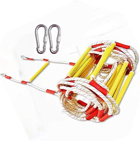 HXPP Escalera De Cuerda Ingeniería Cuerda Emergencia Resistente Al Fuego De Nylon Suave para Ideal Escalada, Árbol, Casa contra Incendios (Color : 10m (33ft)): Amazon.es: Hogar