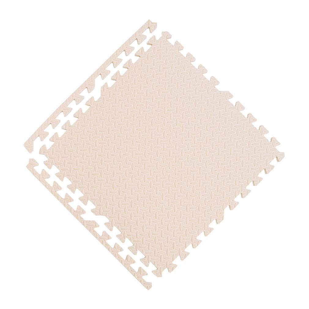 SXXDERTY-tappeto Esteras de Espuma de Enclavamiento de Bricolaje engrosadas con Bordes Esteras de Arrastre Ejercicio Yoga Mat 30CM 60CM (Color : Blanco, Tamaño : 60 * 60 * 2.5CM)