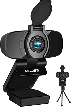 Aigoss Webcam Full HD 1080P with Microphone and PC: Amazon.de: Computers & Accessories