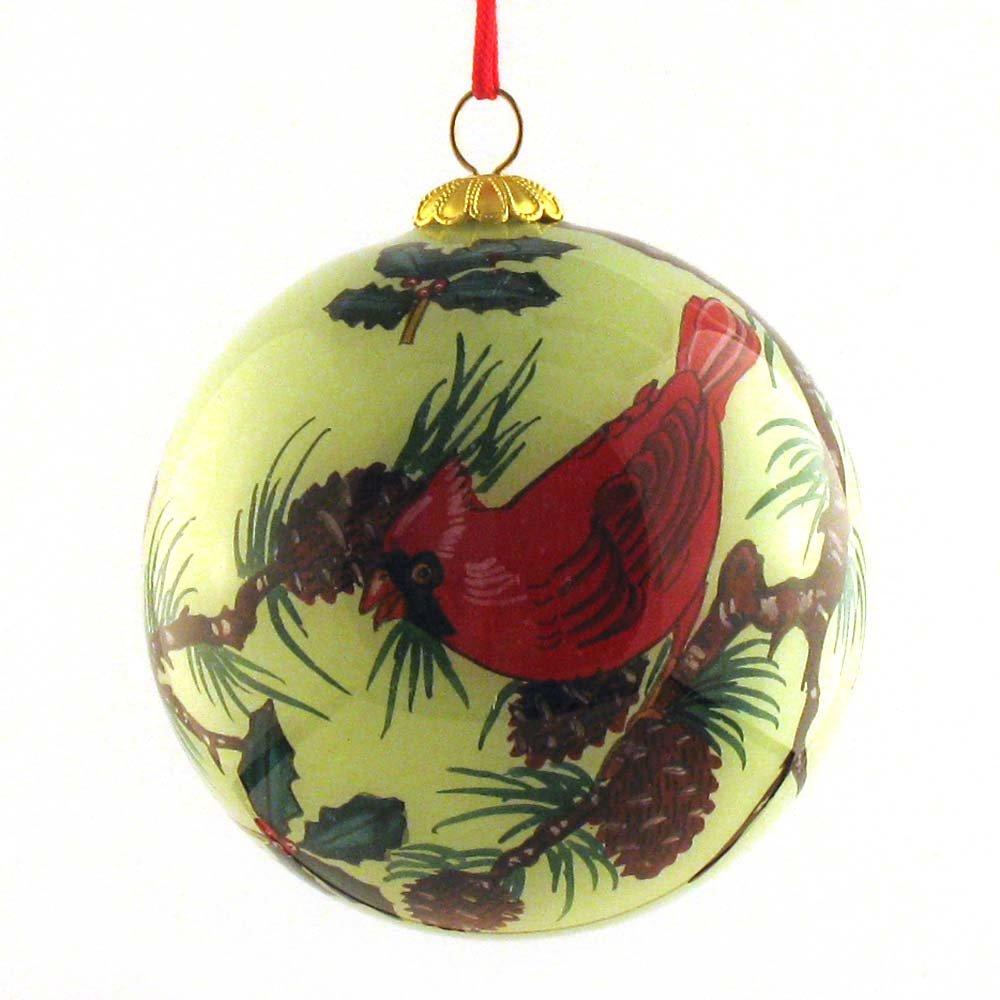 Festive cardinal birds christmas ornaments for Christmas tree photo ornaments