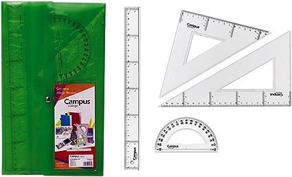 Campus University 600381 - Pack de 4 reglas: Amazon.es: Oficina y papelería