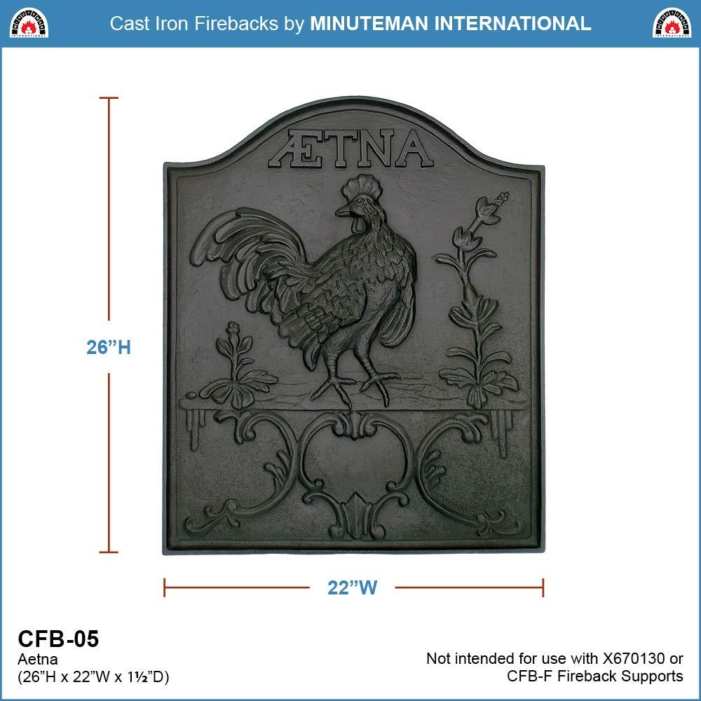 Minuteman International Aetna Cast Iron Fireback Minuteman International ACHLA Designs CFB-05