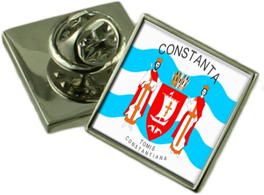Select Gifts Ciudad de Constanta Rumania Bandera Insignia de solapa Pouch