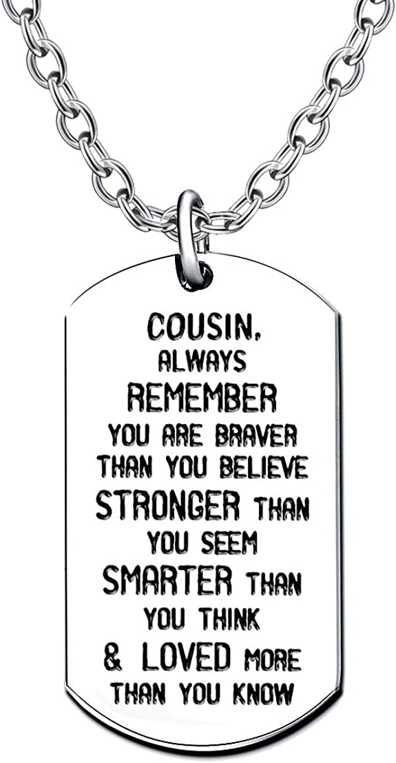 lauhonmin Always Remember You are Braver//Stronger//Smarter Than You Think Pendant Necklace Family Friend Gift Unisex