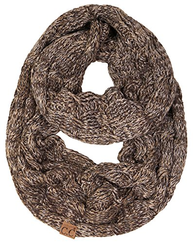 S1-6800-816.07 Funky Junque Infinity Scarf - 4 Tone Brown (#21) (Sweater Knit Scarf)