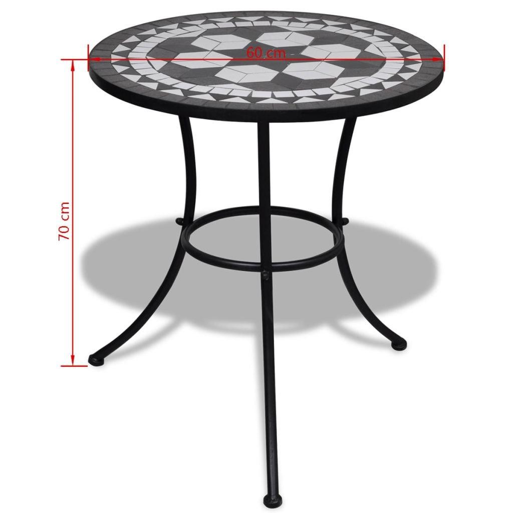 Amazon.de: vidaXL Mosaik Gartentisch Mosaiktisch Gartenmöbel Tisch ...