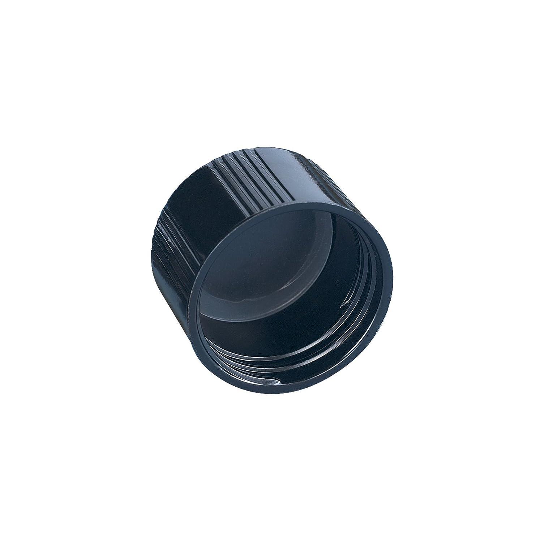 Kimble Phenolic Black Screw Cap with Solid PE Liners Case of 144 Cap Size 22-400