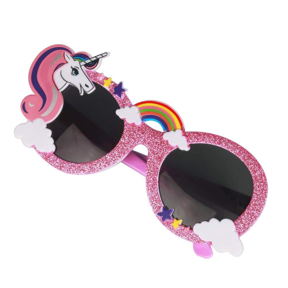 Amazon.com: Beautyer Unicorn Glasses Fanci-Frames Hawaiian ...