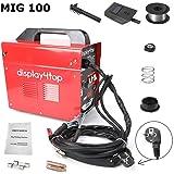 Display4top MIG 100 máquina de soldadura eléctrica especial de 220V, alimentación automática, seguridad