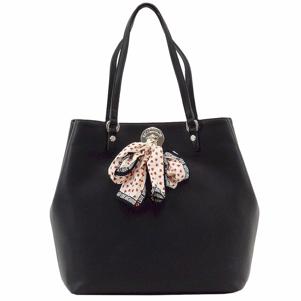 Love Moschino Women's Black Tote Handbag W/Scarf