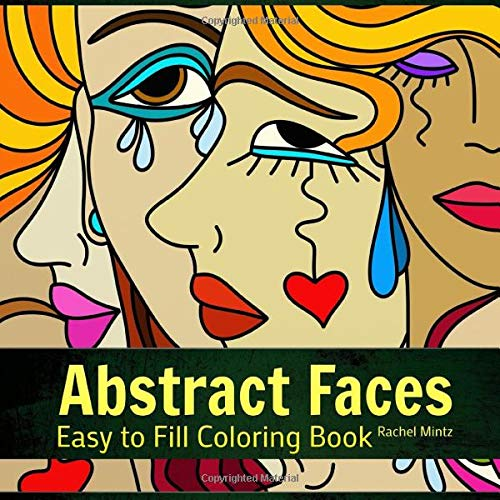 Abstract Faces Easy To Fill Coloring Book Patterns Of