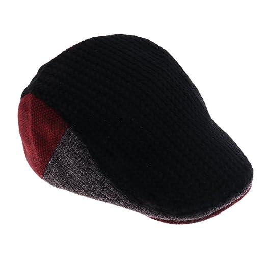 1cd599667288 Jili Online Mens Flat Cap Knit Woolen Vintage Gatsby Baker Boy newsboy  Cabblie Hats - Style