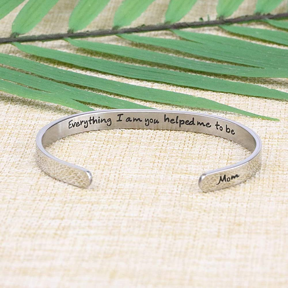 Christmas Bangle with 3 charms and Gift Box with Personalised Sleeve