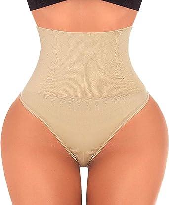 Thong Shapewear for Women Tummy Control High Waist Underwear Body Shaper Thong Girdle Panties