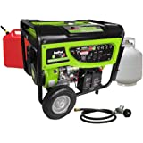 Smarter Tools ST-GP7500DEB, 6500 Running Watts/7500 Starting Watts, Dual Fuel Powered Portable Generator, CARB Compliant