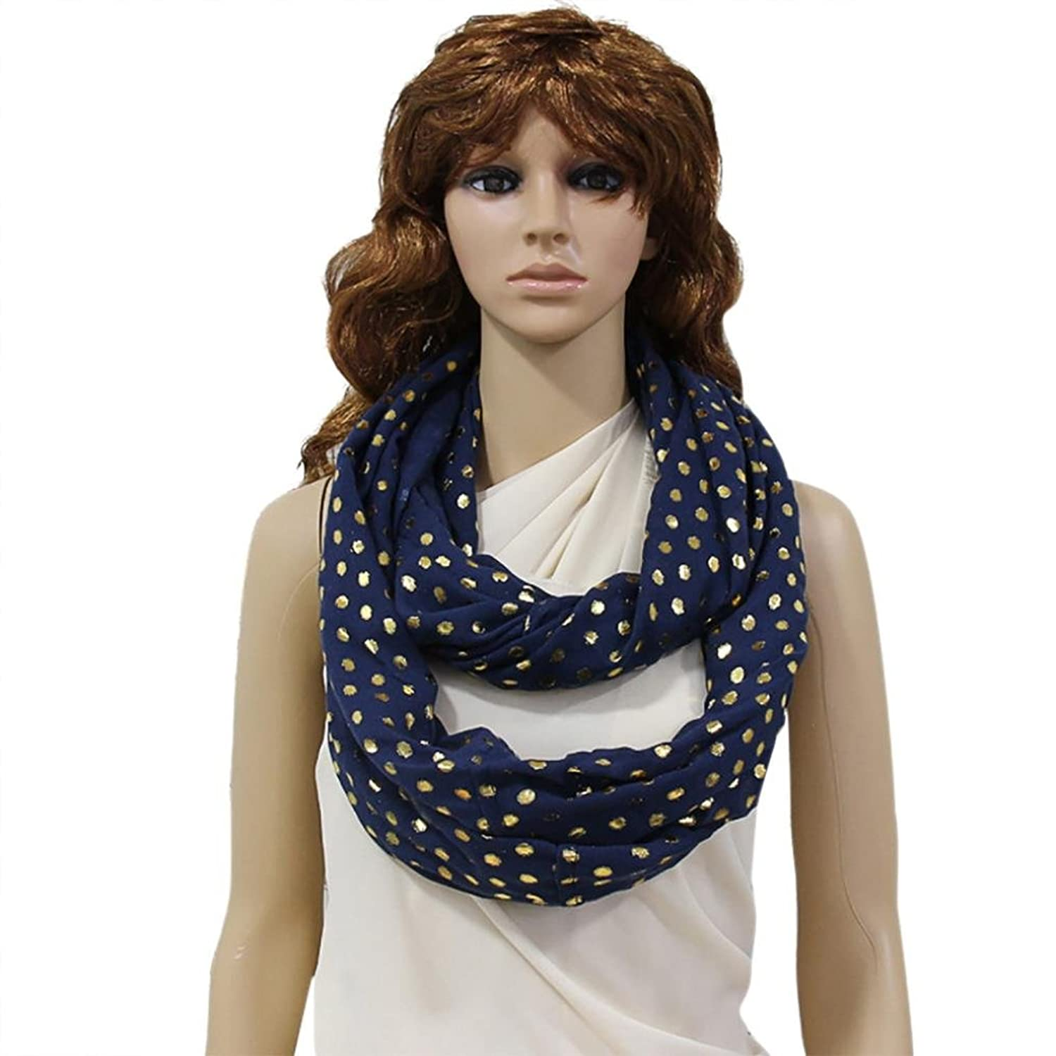 Mosunx(TM) Fashion Women's Scarves Hot Gold Dot Scarf Girls Wrap Shawl