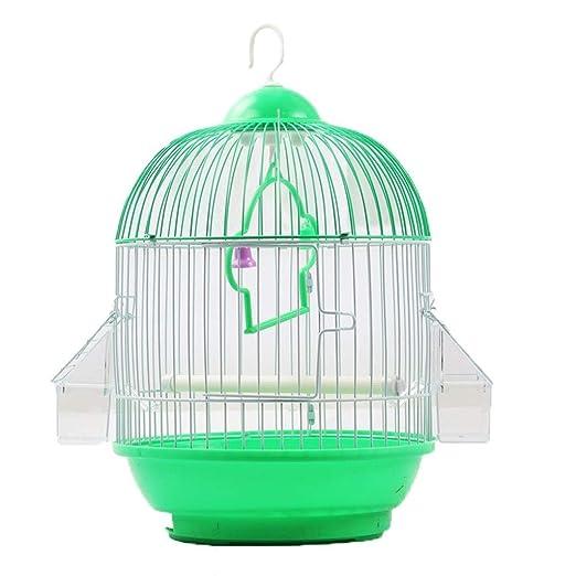 MUMUCW Mascotas Compañero Redondo Superior Jaula de pájaros Hierro ...