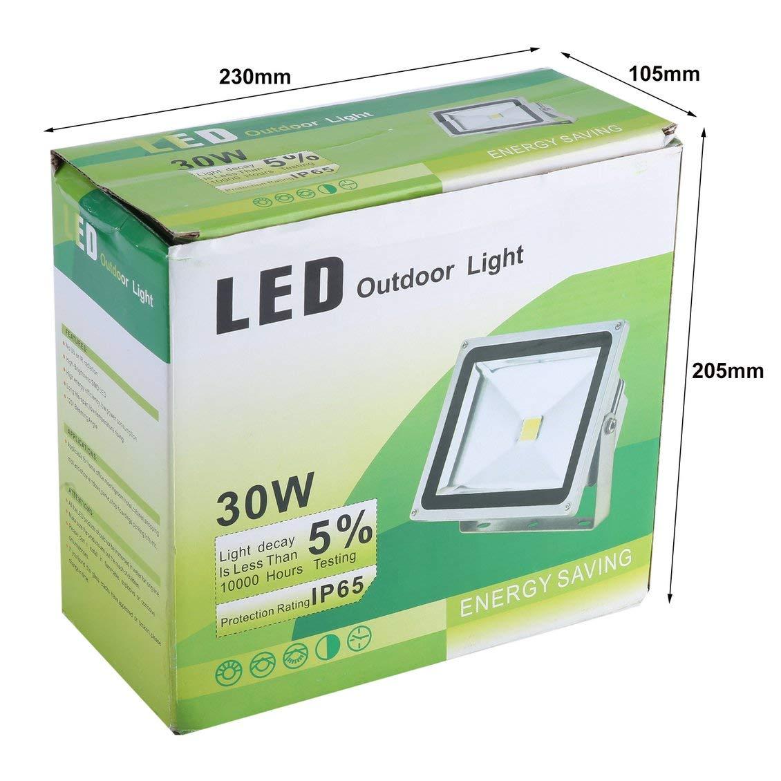 Pgige Reflector LED RGB 30W para para para exteriores Proyector 2700-2800LM Lámpara de jardín Lámpara de punto ultra brillante Luz de inundación duradera 0f0e6c