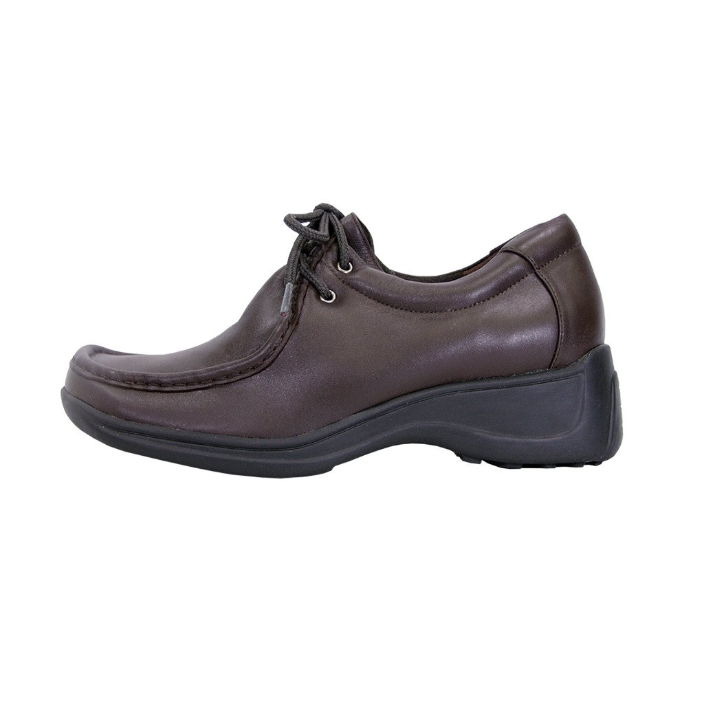 24 Hour Comfort  Kris Women Wide Width Classic Elegant Durable Cushioned Leather Lace Up Shoes FootwearUS