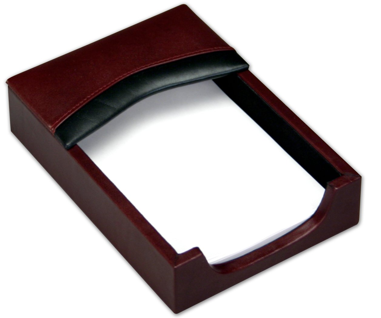 Dacasso Burgundy Leather Memo Holder, 4-Inch by 6-Inch