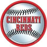 "Amscan Cincinnati Reds 9"" Dinner Plates"