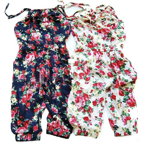 PanDaDa Toddler Girl Kids Jumpsuit Short Summer Playsuit Rompers One-piece Tops