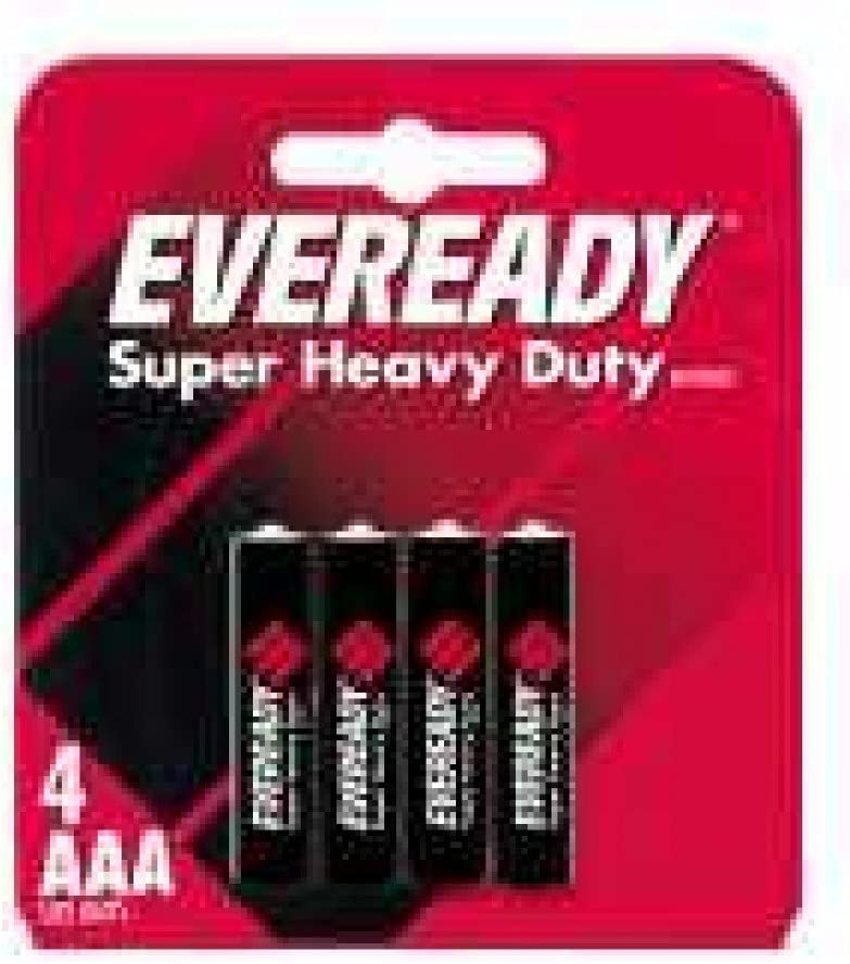 Eveready Heavy Duty 1212BP-4 AAA Batteries 4-Pack