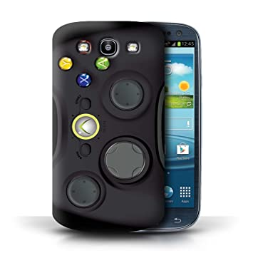 Carcasa/Funda STUFF4 dura para el Samsung Galaxy S3/SIII / serie: Consola de juegos - Xbox 360 negro