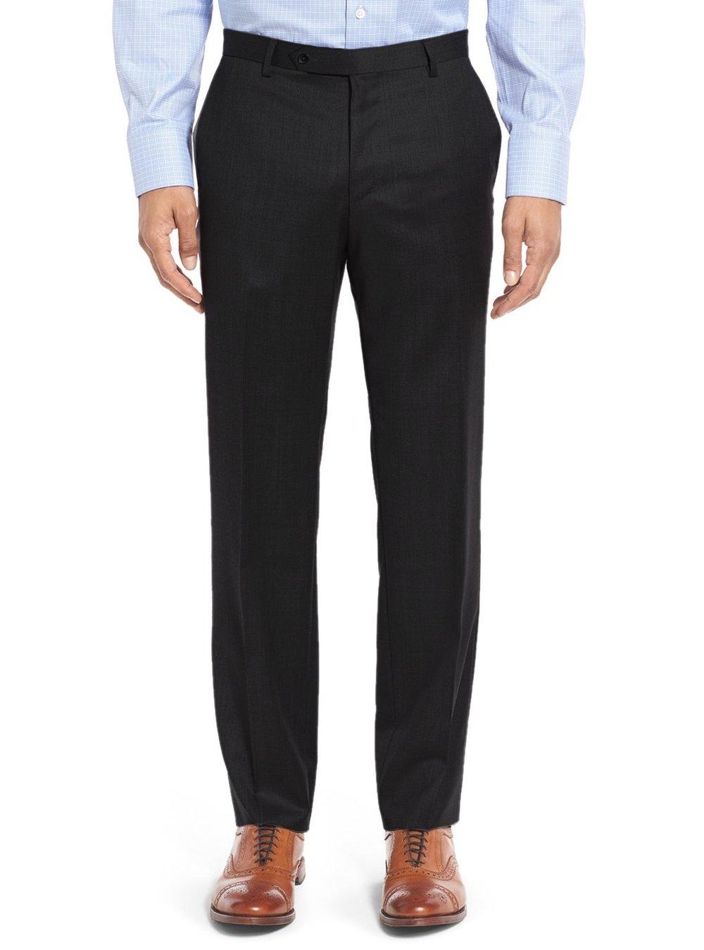 Salvatore Exte Men's 3-piece Suit Set Two Button Blazer Jacket Pants Tux Vest (40 Short US / 50S EU / W 34'', Black) by Salvatore Exte (Image #6)