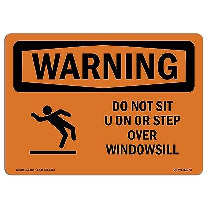 Letrero de advertencia de Osha - no sentarse en o pasar por ...