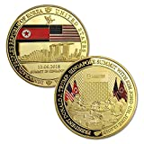 Presidential Summit Collectible Coin Glod Plated President Trump Kim Jong-Un Peace Talks Challenge COINS Novelty Political Gift.