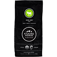 Kicking Horse Coffee, Kick Ass, Dark Roast, Whole Bean, 10 oz - Certified Organic, Fairtrade, Kosher Coffee