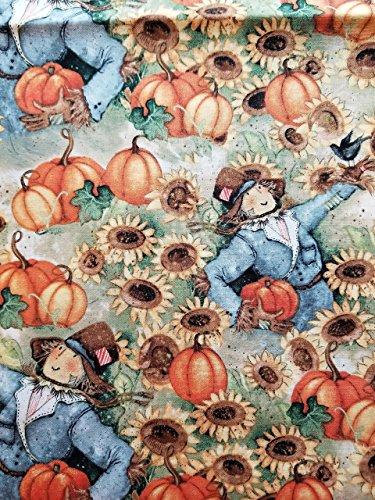 Fall Scarecrow Pumpkin Sunflower 16