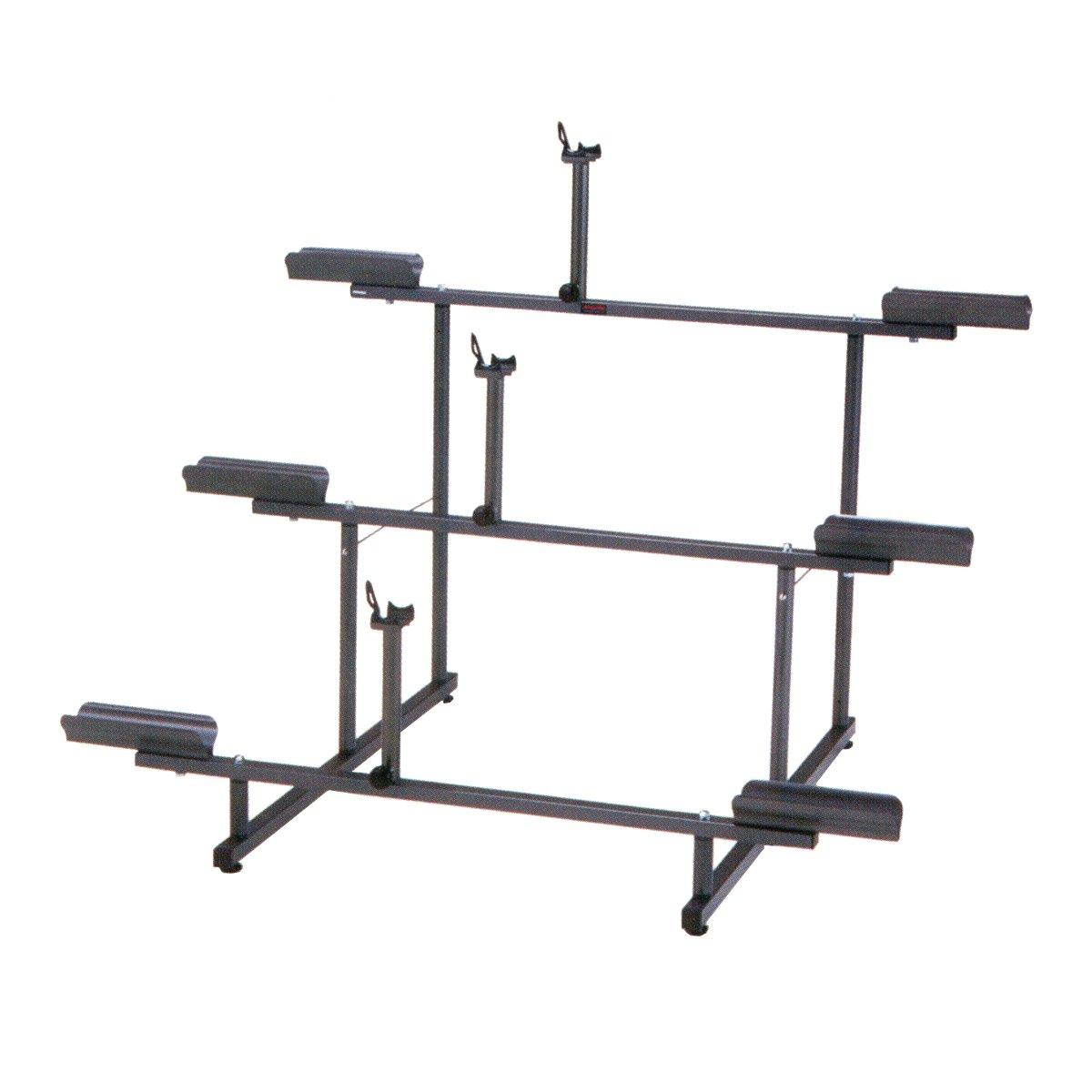 Minoura 971-3 Tier 3-Bike Display Stand, Grey