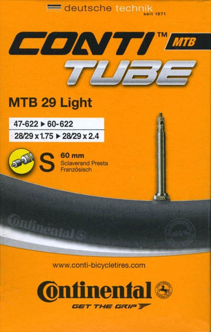 Continental 0182201 - Cámara de Aire para Bicicleta MTB (28/29 Pulgadas, Peso extraligero), Color Negro: Amazon.es: Deportes y aire libre